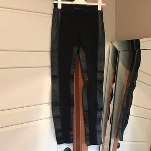 0b8b9b4ac9fa7 BCBG Maxazria🦋 Black and Faux Leather Legging